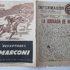 Collectionnisme sportif: INFORMADOR MARCONI, LA JORNADA DE HOY DEPORTIVO ALCOYANO R. MADRID, FOLLETO FUTBOL TEMPORADA 1950-51. Lote 40411247