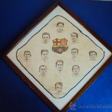 Coleccionismo deportivo: (F-153)PIEZA DE MUSEO,PAÑUELO DE LA PLANTILLA DEL F.C.BARCELONA AÑOS 20,SAMITIER,SANCHO,ETC.. Lote 36087888