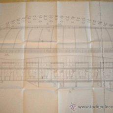 Coleccionismo deportivo: PLANO PROYECTO PABELLON OLIMPICO DE MONTJUIC, BARCELONA 92.. Lote 36128362