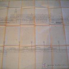 Coleccionismo deportivo: PLANO RESTAURACION ESTADIO OLIMPICO DE MONTJUIC, BARCELONA 92.. Lote 36129085