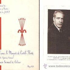 Coleccionismo deportivo: 1º. CAMPEONATO PROVINCIAL CICLISMO AÑO 1959 - FET & JONS. Lote 36230157