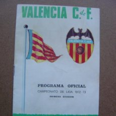Coleccionismo deportivo: PROGRAMA OFICIAL VALENCIA C.F- REAL OVIEDO 1972-1973 72-73 CAMPEONATO DE LIGA. Lote 36704575