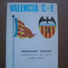 Coleccionismo deportivo: PROGRAMA OFICIAL VALENCIA C.F- REAL BETIS 1972-1973 72-73 CAMPEONATO DE LIGA. Lote 36704922