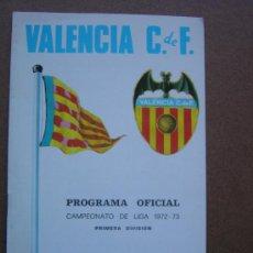 Coleccionismo deportivo: PROGRAMA OFICIAL VALENCIA C.F- REAL SOCIEDAD 1972-1973 72-73 CAMPEONATO DE LIGA. Lote 36704996