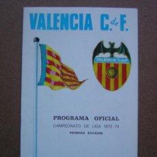 Coleccionismo deportivo: PROGRAMA OFICIAL VALENCIA C.F- ATLETICO DE MADRID 1972-1973 72-73 CAMPEONATO DE LIGA. Lote 36705041