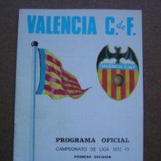 Coleccionismo deportivo: PROGRAMA OFICIAL VALENCIA C.F- SPORTING GIJON 1972-1973 72-73 CAMPEONATO DE LIGA. Lote 36705094