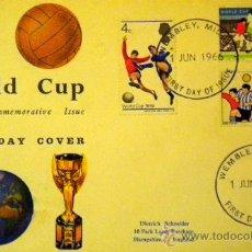 Coleccionismo deportivo: SOBRE SELLO STAMPS COPA MUNDIAL FUTBOL INGLATERRA 1966 WORLD CUP ENGLAND FOOTBALL WEMBLEY. Lote 36793252