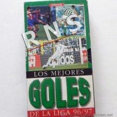 Coleccionismo deportivo: MEJORES GOLES LIGA 96/97 FÚTBOL DEPORTE ESPAÑOLA BETIS MADRID ETC ESPAÑA VHS 1996 1997 INTERVIÚ. Lote 56806571