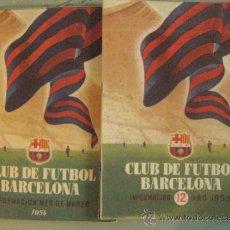 Coleccionismo deportivo: 12 PRIMEROS BOLETINES DE INFORMACION DEL CLUB DE FUTBOL BARCELONA 1954-1955.. Lote 37218517