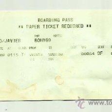 Coleccionismo deportivo: BILLETE DE AVION DE JAVIER MASCHERANO JUGADOR DEL FCB.. Lote 37314360