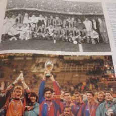 Coleccionismo deportivo: DG- SUPERCOPA EUROPA 92/93 (11,5 X 15CM) 97/98(9 X 15)-PAPEL SATINADO-(221). Lote 37697545