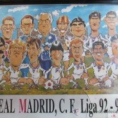 Coleccionismo deportivo: FUTBOL, CUADRO, CARICATURA, ULTRA SUR, REAL MADRID, C.F LIGA 92-93, MUY DIFICIL DE CONSEGUIR. Lote 38230025