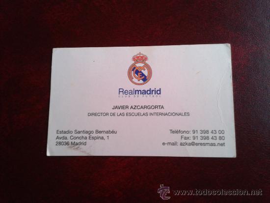 Tarjeta Xabier Javier Azkargorta Bolivia Rcd Espanyol Como Técnico En Real Madrid C F
