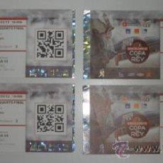 Coleccionismo deportivo: LOTE 4 ENTRADAS - COPA REY DE BALONCESTO - PALAU SANT JORDI BARCELONA FEBRERO 2012 - ACB - BASKET. Lote 39239861