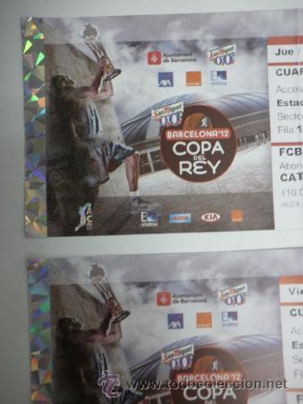 Coleccionismo deportivo: Lote 4 entradas - Copa Rey de Baloncesto - Palau Sant Jordi Barcelona Febrero 2012 - ACB - Basket - Foto 2 - 39239861