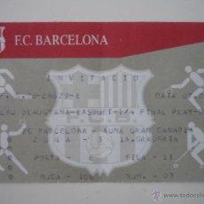 Coleccionismo deportivo: ENTRADA BALONCESTO PLAY OFF ACB PALAU BLAUGRANA BARCELONA - GRAN CANARIA TEMPORADA 2003 2004 - BARÇA. Lote 39391550