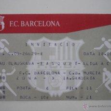 Coleccionismo deportivo: ENTRADA BALONCESTO ACB PALAU BLAUGRANA FC BARCELONA - C B MURCIA TEMPORADA 2003 2004 - BARÇA . Lote 39391592