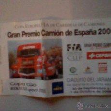 Coleccionismo deportivo: ENTRADA GRAN PREMIO CAMION ESPAÑA 2006 CIRCUITO JARAMA . Lote 39563276