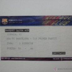 Coleccionismo deportivo: ENTRADA PALAU BLAUGRANA - PLAY OFF ACB - AXA FC BARCELONA - TAU VITORIA - AÑO 2007. Lote 39565702