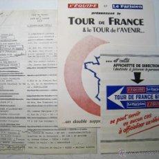 Coleccionismo deportivo: TOUR DE FRANCE (FRANCIA) 1973 - LISTA EQUIPOS + TARIFAS PUBLICIDAD + LISTA INSIGNIAS EQUIPOS. Lote 39630228