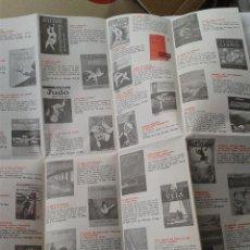 Coleccionismo deportivo: ANTIGUO CATALOGO DE LIBROS DE DEPORTES EDICIONES CEDEL AÑOS 70. Lote 39892435