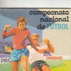 Coleccionismo deportivo: CALENDARIO CAMPEONATO NACIONAL DE FUTBOL . 1ª Y 2ª DIVISIÓN TEMP, 1975-76 PUBLIC. IMEDIO PEGAMENTO. Lote 39985429