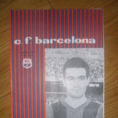 Coleccionismo deportivo: PROGRAMA OFICIAL FC BARCELONA CONTRA TENERIFE ENERO 62. Lote 40036958