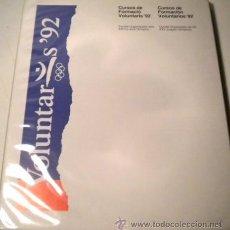 Coleccionismo deportivo: CUADERNO DOSSIER VOLUNTARIADO OLIMPIADAS DE BARCELONA 92 - MÁS DOCUMENTOS VARIOS ( CATALÀ). Lote 74481447