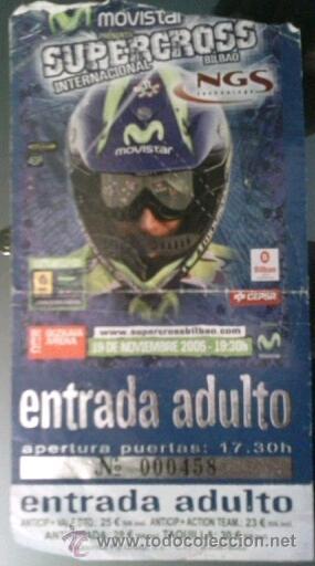 ENTRADA SUPERCROSS INTERNACIONAL EN BILBAO (Coleccionismo Deportivo - Documentos de Deportes - Otros)