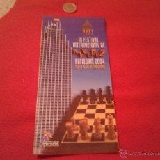 Coleccionismo deportivo: FOLLETO INFORMATIVO INFORMACION III FESTIVAL INTERNACIONAL DE AJEDREZ BENIDORM 2004 GRAN HOTEL BALI. Lote 40597057