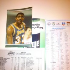 Coleccionismo deportivo: COLECCION LOS ANGELES LAKERS BASKET NBA POSTAL PEGATINAS CATALOGO FOTO. Lote 40747511