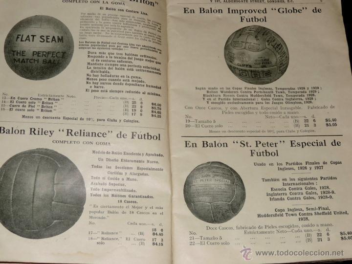 Coleccionismo deportivo: EXCEPCIONAL CATALOGO E.J. RILEY LTD. 1930 - 31, FUTBOL, HOCKEY, BOXEO GOLF BADMINTON, BILLAR, GIMNAS - Foto 3 - 40852006