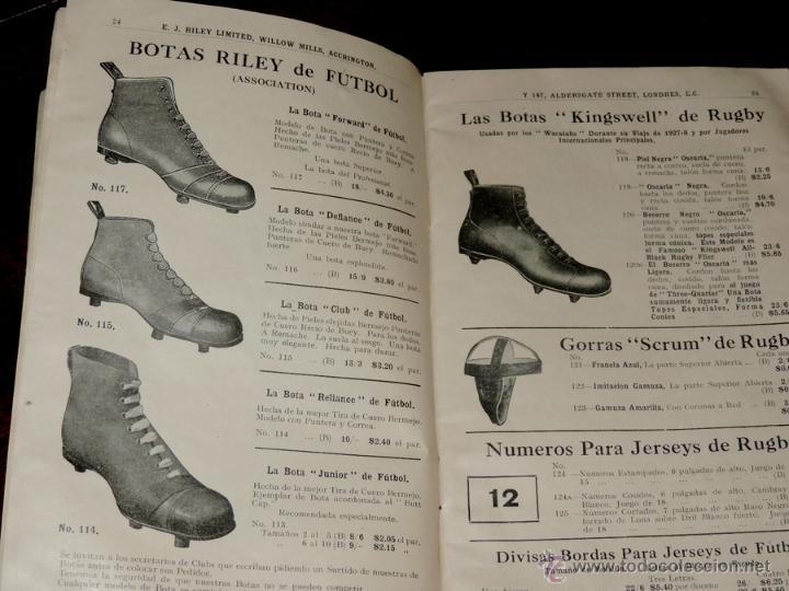 Coleccionismo deportivo: EXCEPCIONAL CATALOGO E.J. RILEY LTD. 1930 - 31, FUTBOL, HOCKEY, BOXEO GOLF BADMINTON, BILLAR, GIMNAS - Foto 4 - 40852006