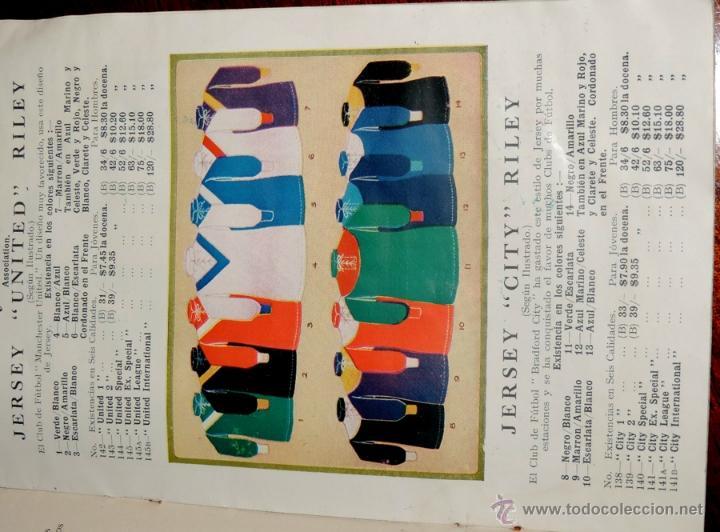 Coleccionismo deportivo: EXCEPCIONAL CATALOGO E.J. RILEY LTD. 1930 - 31, FUTBOL, HOCKEY, BOXEO GOLF BADMINTON, BILLAR, GIMNAS - Foto 5 - 40852006