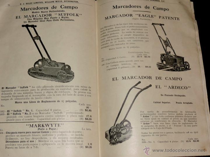 Coleccionismo deportivo: EXCEPCIONAL CATALOGO E.J. RILEY LTD. 1930 - 31, FUTBOL, HOCKEY, BOXEO GOLF BADMINTON, BILLAR, GIMNAS - Foto 6 - 40852006
