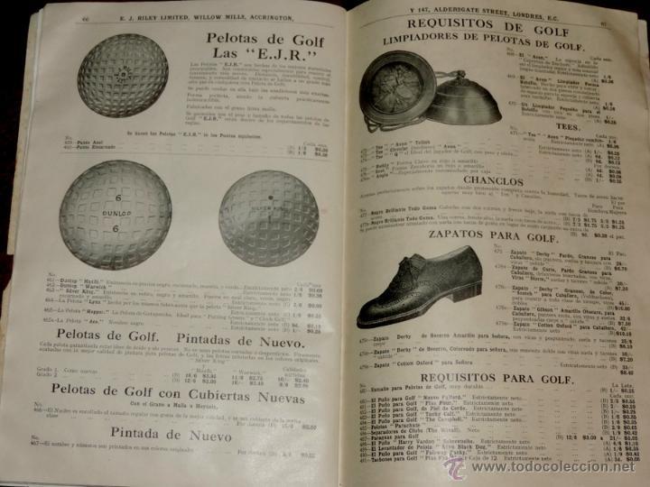 Coleccionismo deportivo: EXCEPCIONAL CATALOGO E.J. RILEY LTD. 1930 - 31, FUTBOL, HOCKEY, BOXEO GOLF BADMINTON, BILLAR, GIMNAS - Foto 7 - 40852006