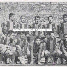 Coleccionismo deportivo: F.C.BARCELONA ALINEACIÓN 1962 COPA GENERALISIMO-IDA (S.BERNABEU)-R.MADRID 0-BARÇA 1-(13X18 CM). Lote 40883083
