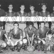 Coleccionismo deportivo: F.C.BARCELONA ALINEACIÓN 1968 FINAL TROFEO RAMÓN DE CARRANZA-AT.MADRID 1-BARÇA 0-(13X18 CM). Lote 43657238
