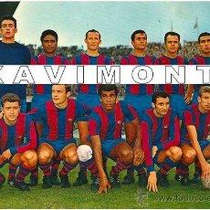 Coleccionismo deportivo: F.C.BARCELONA ALINEACIÓN LIGA TEMPORADA 1967/1968-BARÇA-(13X18 CM). Lote 40883103