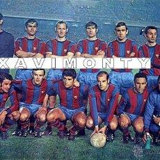 Coleccionismo deportivo: F.C.BARCELONA ALINEACIÓN LIGA TEMPORADA 1968/69-BARÇA-(13X18 CM). Lote 40883120
