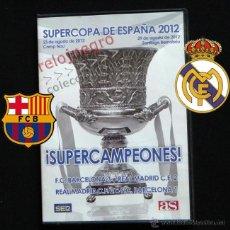 Coleccionismo deportivo: SUPERCOPA DE ESPAÑA 2012 DVD PARTIDO DEL SIGLO FÚTBOL REAL MADRID FC BARCELONA CLUB BARÇA HISTÓRICO. Lote 41080543