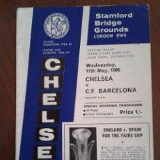 Coleccionismo deportivo: CHELSEA FC CF BARCELONA SEMIFINAL COPA DE FERIAS 1965-1966 - STAMFORD BRIDGE BARÇA. Lote 41244494