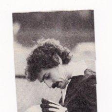 Coleccionismo deportivo: RECORTE TAMAÑO 6 X 12.5 CM - MIGUEL ANGEL PORTERO REAL MADRID CF CON BALON. Lote 41328097