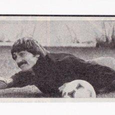 Coleccionismo deportivo: RECORTE TAMAÑO 13 X 5 CM - MIGUEL ANGEL PORTERO REAL MADRID CF ENTRENANDO. Lote 41328115