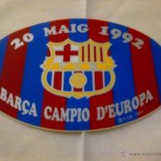 Coleccionismo deportivo: PEGATINA ADHESIVO BARÇA CAMPIO D'EUROPA 20 MAIG 1992 ESCUDO FC BARCELONA. Lote 41365810