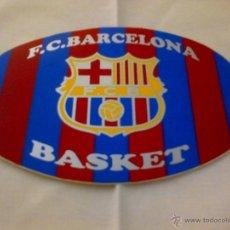 Coleccionismo deportivo: PEGATINA ADHESIVO BARÇA BASKET ESCUDO FC BARCELONA. Lote 41365859