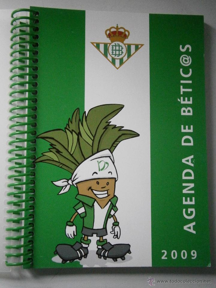 BETIS AGENDA DE BETIC@S 2009 BETICOS ILUSTRACIONES CRISTOBAL RODRIGUEZ LEIVA (Coleccionismo Deportivo - Documentos de Deportes - Otros)