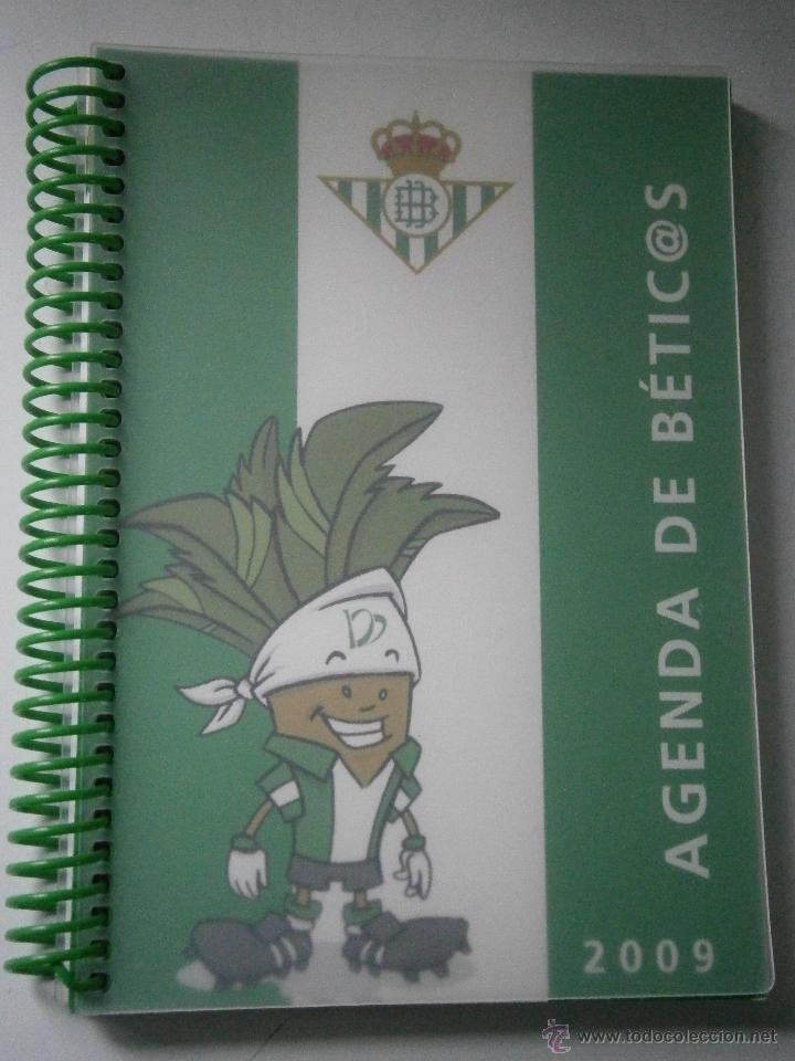 Coleccionismo deportivo: BETIS Agenda de Betic@s 2009 Beticos Ilustraciones Cristobal Rodriguez Leiva - Foto 2 - 41534154
