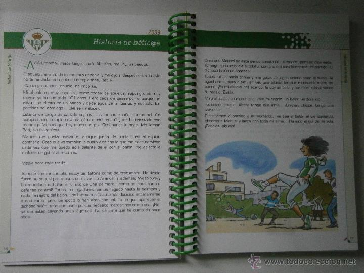 Coleccionismo deportivo: BETIS Agenda de Betic@s 2009 Beticos Ilustraciones Cristobal Rodriguez Leiva - Foto 4 - 41534154