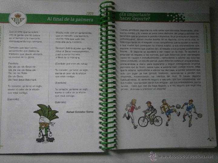 Coleccionismo deportivo: BETIS Agenda de Betic@s 2009 Beticos Ilustraciones Cristobal Rodriguez Leiva - Foto 5 - 41534154